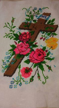 Crochet Doily Patterns, Crochet Doilies, Crochet Flowers, Religious Cross Stitch Patterns, Cross Stitch Borders, Flower Coloring Pages, Christmas Cross, Cross Stitch Embroidery, Projects To Try