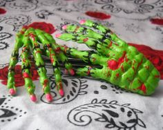 Psycobilly Bloody Monster Skeleton Hand Hair by ItsMadeByStacey, $7.50