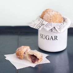 Sufganiyot (Jelly Doughnuts) recipe _ga- just one of fifty fried foods for Hanukah Gluten Free Baking, Gluten Free Desserts, Gluten Free Recipes, Hanukkah Food, Hannukah, Hanukkah Recipes, Holiday Recipes, Doughnut Stand, Sans Gluten
