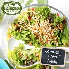 Company Green Salad Recipe from Taste of Home