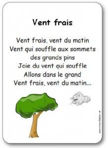 Lyrics of the song Wind fresh, morning wind, Wind blowing to the summits, d … Read In French, Learn French, French Teaching Resources, Teaching French, French Poems, French Practice, French Education, French Expressions, French Classroom