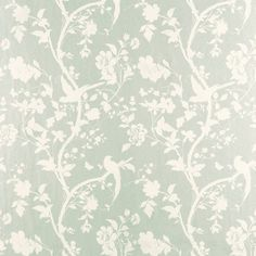 Oriental Garden Eau De Nil Floral Wallpaper 1