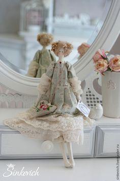 Куклы Тильды ручной работы. Ярмарка Мастеров - ручная работа. Купить Жанетта. Handmade. Тильда, подарок, Овечьи кудри