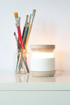 Bottle lamp. A small and cute lamp that can be perfect for small study tables or desks.