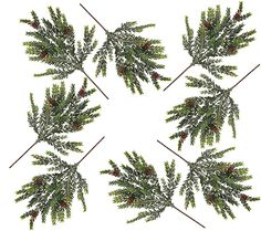Branch out. This set of eight snowy hemlock picks from Valerie Parr Hill makes it easy to add greenery to your indoor seasonal decor. QVC.com