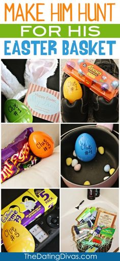 Make your man hunt for his Easter Basket this year! We have all of the free Easter Egg Hunt printables and clues already done for you. Hoppy Easter, Easter Eggs, Easter Egg Hunt Clues, Diy Spring, Spring Lake, Easter 2015, Easter Celebration, Easter Holidays, Easter Party