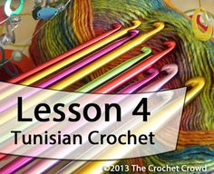 Learn how to Tunisian Crochet with Mikey. Mikey's video series will take you through the basics showing you exactly what to do. Lesson 4.