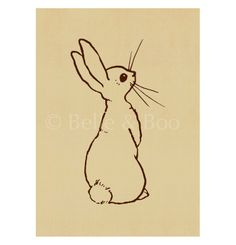 Boo Rabbit Art Print for Children by Belle and Boo
