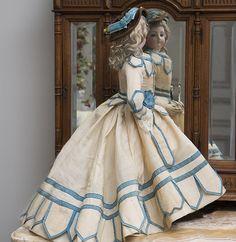 "18 1/2"" (47 cm) Fabulous Rare Fully Original Early Bru Fashion with charming ""Mona Lisa"" smile"