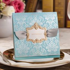 Swing-Shaped Free Shipping 50 pcs/Lot 2 Colors Lace Wedding Invitations Decoration Table Cards Party Invitation Card