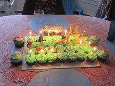 Angry Birds Cupcake Cake Lit Up