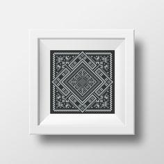 Swedish Rhombus Folk Embroidery pdf pattern with birds in cross stitch Blackwork Embroidery, Embroidery Alphabet, Folk Embroidery, Embroidery Stitches, Cool Patterns, Beautiful Patterns, Latest Result, Rhombus Shape, Stitch Shop