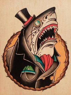 Shark Tattoo Flash | KYSA #ink #design #tattoo