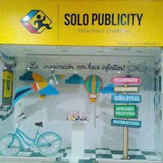 Nuestro escaparate en Planta Alta en el C.C. Mall El Fortín  #solopublicity #mallelfortin #escaparate