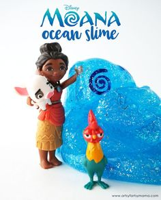 Easy 3-Ingredient Disney Moana-Inspired Ocean Slime