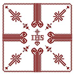 Cross Patterns, Diy And Crafts, Religion, Cross Stitch, Altars, Religious Pictures, Dots, Tejidos, Patterns