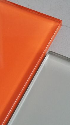 Ibizan Orange Sunset with Hungry Shark Grey ...Glass Metro / Subway Tiles to jazz up your modern kitchen or bathroom from www.too-jazzy.com