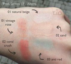 """Swatches der """" Profi Secrets """" LE von Alterra. Concealer, Lips&Blush, Mascara sowie Nagelpflege. Gibt es bald auch Nagellack von Alterra?"""