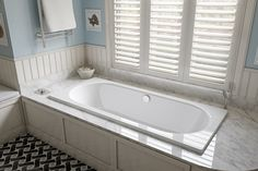 When considering a bath, opt for a German manufactured Bette Starlet drop-in bath. The Bette bath adds a special value to the bathroom as an integral part of the bathroom design, says Architect Phil Darby. The flush installation allows for easy cleaning as hygiene is one of the biggest challenges in bathrooms.