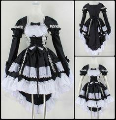 Vestido Vintage Gótico criada Cosplay mujeres Lolita (31,70€) - Muy a malas......