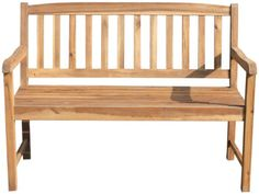 Edle 2-sitzer Bank MONZA aus Eukalyptusholz geölt FSC®-zertifiziert