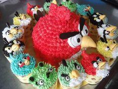 Angry Birds Cake & Cupcakes
