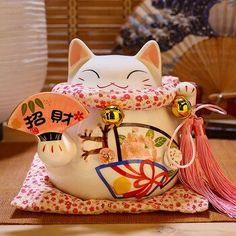 8 inch Pink Fortune Cat Ornament Ceramic Maneki Neko Money Box Home Decoration Feng Shui Gift Lucky Cat Piggy Bank - aliexpress.com - imall.com Maneki Neko, Feng Shui Lucky Cat, Feng Shui Ornaments, Cat Piggy Bank, Feng Shui House, Cat Statue, Anime Cat, Money Box, Pink Cat
