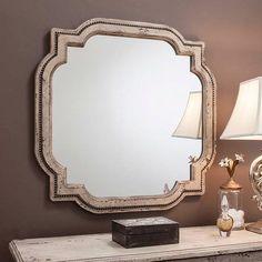 Vintage Cream Deco Mirror