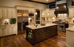 Oakley Home Builders traditional kitchen! My dream kitchen Kitchen Cabinet Colors, Kitchen Redo, New Kitchen, Kitchen Ideas, Awesome Kitchen, Kitchen Colors, Kitchen Photos, Warm Kitchen, Rustic Kitchen