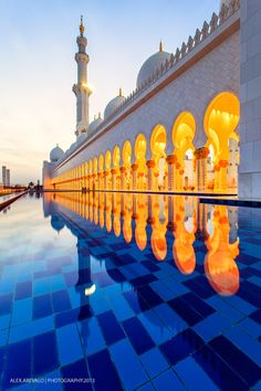 Grand Mosque, Abu Dhabi, UAE. The most beautiful religious building I have ever seen. The interior is stunning