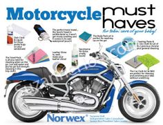 How to clean your motorcycle with Norwex.  It's just water and a cloth!