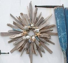 Cape Cod Driftwood Furniture, Driftwood Table, Driftwood Wreath, Driftwood Mirror, Drift Wood Art