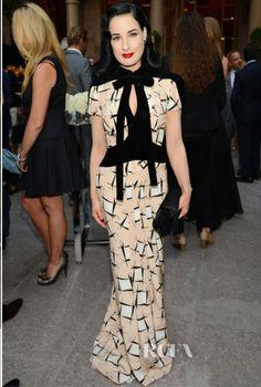 3425ac5b18 Dita Von Teese - Red Carpet Fashion Awards