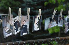 DIY photo clothesline
