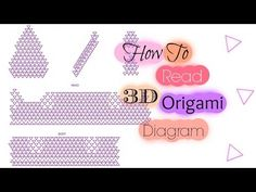 How to read 3D Origami diagram - YouTube
