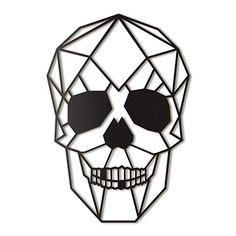 Hoagard Skull Metal Wall Art x Cool Art Drawings, Art Drawings Sketches, Easy Drawings, Geometric Drawing, Geometric Art, Metal Walls, Metal Wall Art, Herren Hand Tattoos, 3d Pen