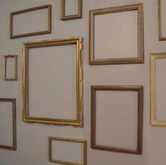 empty gold leaf frame wall
