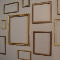 Empty frames diy wall art on pinterest empty frames for What to do with empty picture frames