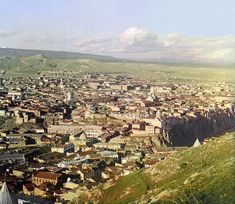 The Final Years of Pre-Soviet Russia, Captured in Glorious Color | View of Tiflis from the grounds of Saint David Church   | WIRED.com // cliff-side cities