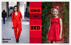 ♥ CHIC LADY in RED  ♥  Tendencias moda infantil