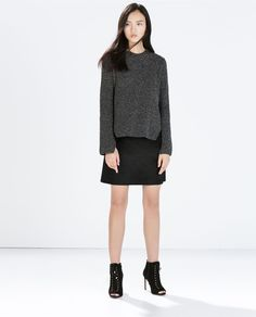 Image 1 of TEXTURED A-LINE MINI SKIRT from Zara