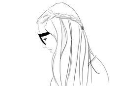 braid girl illustration