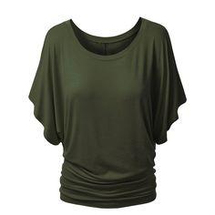 80e725a05fe95 Boat Neck Short Sleeve Plain T-Shirt
