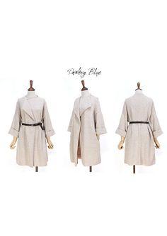 Elegant blanketcoat beige knitcoat by KnittingbyDB on Etsy