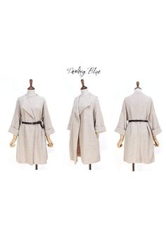 Elegant blanketcoat beige knitcoat by KnittingbyDB on Etsy