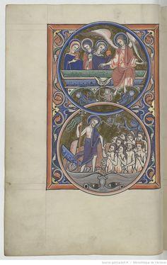 Psalterius [psautier latin dit de saint Louis et de Blanche de Castille], 1225-1235 | Les saintes femmes au tombeau, et le Christ aux limbes | BNF