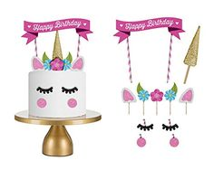 TraveT Colorful Happy Birthday Cake Toppers Material Pack...