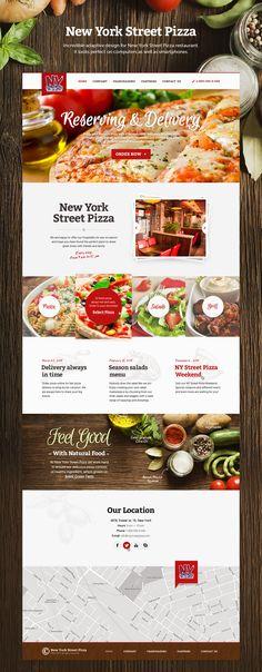 New York Street Pizza website on Behance