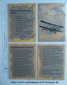 Miri - MitLiebegemacht: Technikbuch I - Bleichtechnik mit Embossing (Haushaltsbleiche - Farbkarton + Embossingpulver)