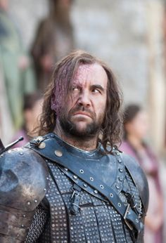 """""""He is no true knight but he saved me all the same, she told the Mother. Save him if you can, and gentle the rage inside him."""" Sansa about The Hound"""